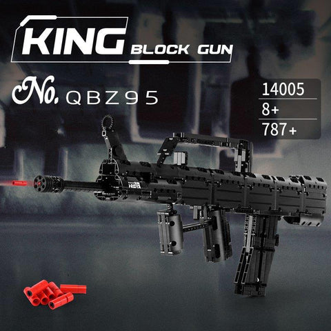 QBZ95 Block Gun Mould King 14005 (LEGO STYLE WORKING MODEL)