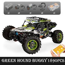 Green Hound Buggy Mould King 18002(LEGO STYLE MOTORIZED MODEL) N