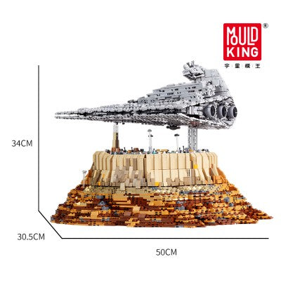 Star Wars Empire Over Jedha City Mould King 21007 Building Block Toy Set