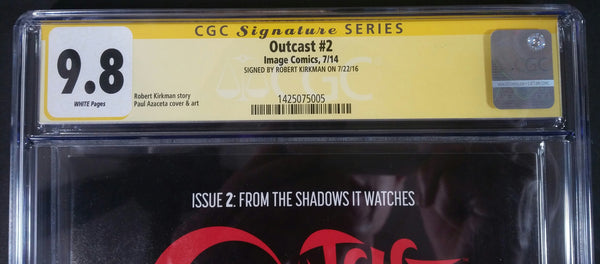 Outcast #2 CGC 9.8 SS Top