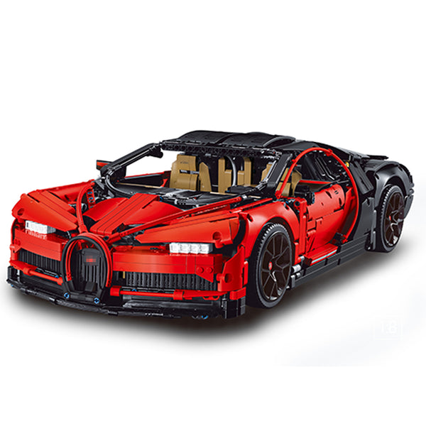 Red Bugatti Chiron 3388A Cool Supercar(LEGO STYLE STATIC MODEL)