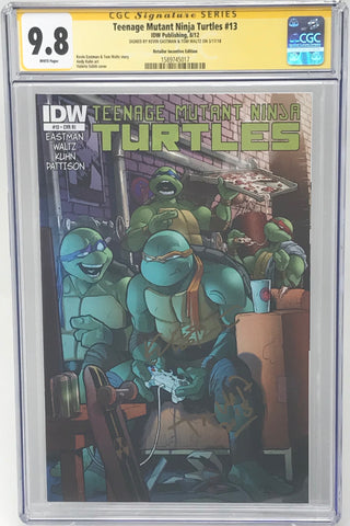 Teenage Mutant Ninja Turtles #13 RI CGC 9.8 SS Kevin Eastman & Tom Waltz