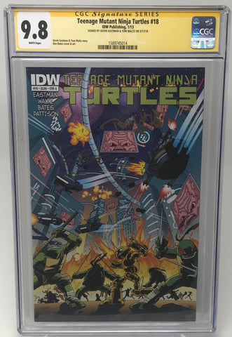 Teenage Mutant Ninja Turtles #18 CGC 9.8 SS Kevin Eastman & Tom Waltz