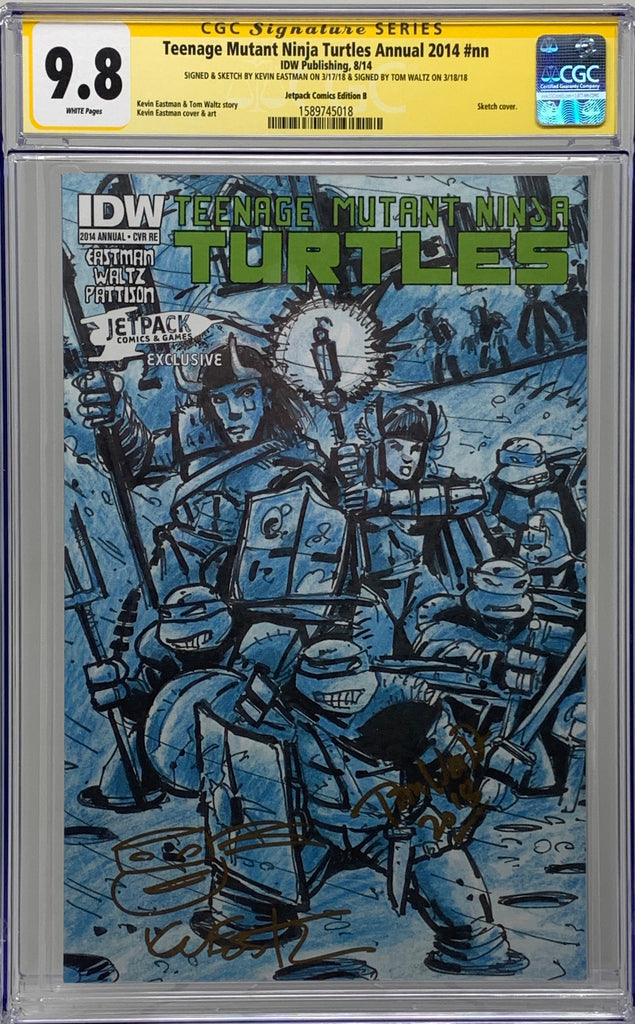 Teenage Mutant Ninja Turtles Annual 2014 #nn JetPack RE CVR-B CGC 9.8 SS Eastman/Waltz