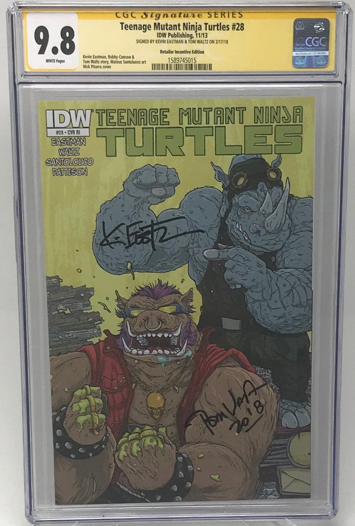 Teenage Mutant Ninja Turtles #28 IDW CGC SS 9.8 Kevin Eastman & Tom Waltz