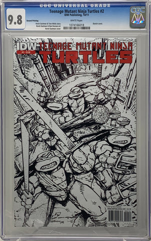 Teenage Mutant Ninja Turtles #2 Sketch CVR CGC 9.8