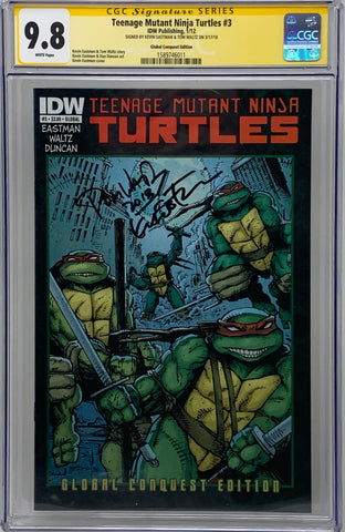 Teenage Mutant Ninja Turtles #3 Global Conquest CGC 9.8 SS Kevin Eastman/Tom Waltz