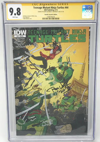 Teenage Mutant Ninja Turtles #44 RI CGC 9.8 SS Kevin Eastman & Tom Waltz
