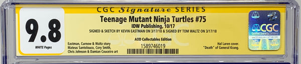 Teenage Mutant Ninja Turtles #75 IDW RE CGC SS 9.8 Kevin Eastman & Tom Waltz