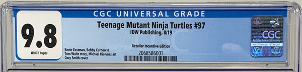 Teenage Mutant Ninja Turtles #97 IDW Cover RI CGC 9.8