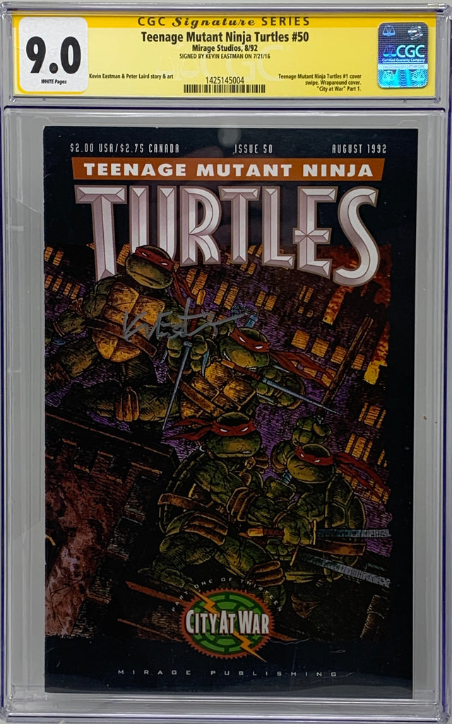 Teenage Mutant Ninja Turtles #50 ('92) CGC 9.0 SS Signed by Kevin Eastman
