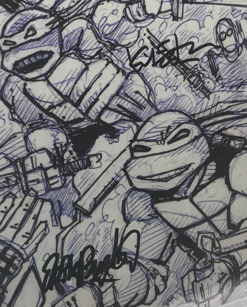 Teenage Mutant Ninja Turtles: The Secret History of the Foot Clan #1 Sketch CVR RE CGC 9.8 SS Kevin Eastman & Erik Burnham