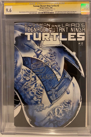TMNT #2 (1st Print) CGC 9.6 SS Signed by Kevin Eastman with remark