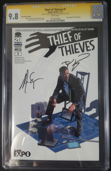 Thief of Thiefs #1 Image Expo/Convention Edtion CGC 9.8 SS By Robert Kirkman & Nick Spencer