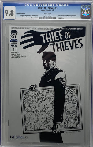 Thief of Thieves #1 Comics PRO Sketch Edition (Reprint) CGC 9.8