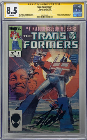 The Transformers #1 CGC 8.5 SS Signed by Stan Lee