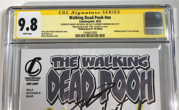 Walking Dead Pooh #nn CGC 9.8 SS Kirkman & Mychaels Homage to WD #3 Artist Proof #0