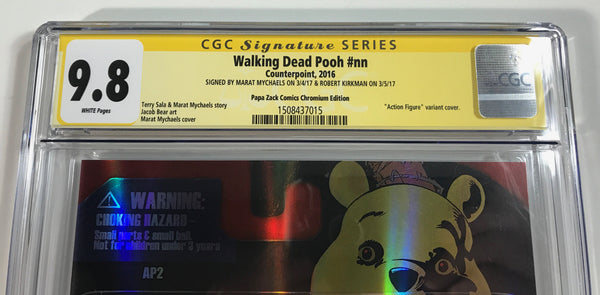 Walking Dead Pooh #nn CGC 9.8 SS Kirkman & Mychaels Chrome Action Figure Cover AP2