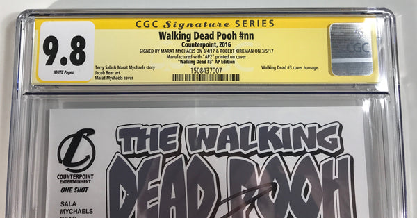 Walking Dead Pooh #nn CGC 9.8 SS Kirkman & Mychaels Homage to WD #3 Artist Proof #2