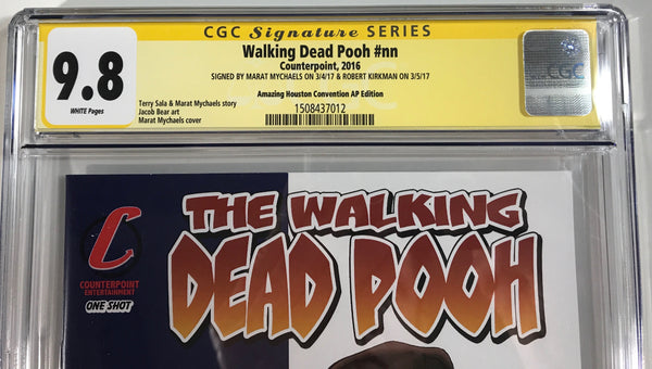 Walking Dead Pooh #nn CGC 9.8 SS Kirkman & Mychaels Amazing Houston Convention Artist Proof (AP2) Flag Edition
