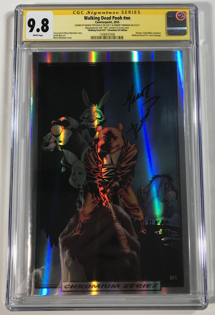 Walking Dead Pooh #nn CGC 9.8 SS Kirkman & Mychaels Homage to WD121 Chrome Artist Proof (AP3)