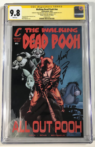 Walking Dead Pooh #nn CGC 9.8 SS Kirkman & Mychaels Homage to WD121 AP Edition