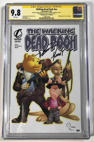Walking Dead Pooh #nn CGC 9.8 SS Kirkman & Mychaels Homage to WD #3 Artist Proof #3