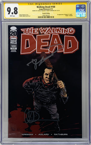 The Walking Dead #100 2nd Print Dual Signed CGC 9.8 Robert Kirkman & Charlie Adlard