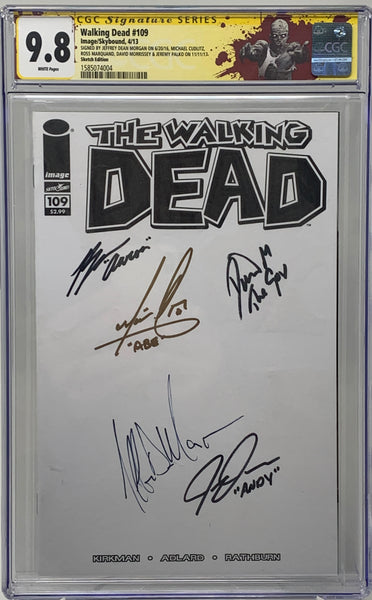 The Walking Dead #109 CGC 9.8 SS 5x signed