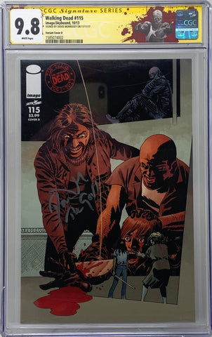 The Walking Dead #115 CGC SS 9.8 David Morrissey