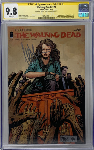 The Walking Dead #127 CGC SS 9.8 Jeffrey Dean Morgan