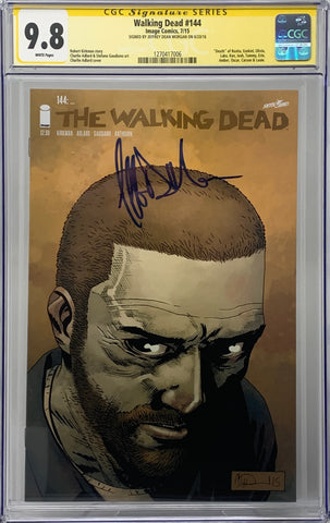 The Walking Dead #144 CGC SS 9.8 Jeffrey Dean Morgan