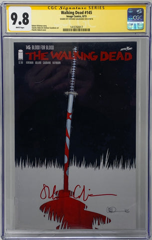 The Walking Dead #145 CGC SS 9.8 Stefano Gaudiano