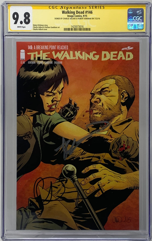 The Walking Dead #146 CGC SS 9.8 Robert Kirkman & Charlie Adlard