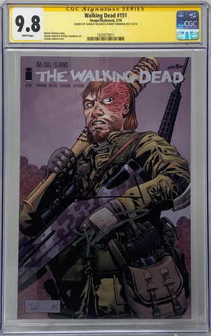 The Walking Dead #151 CGC SS 9.8 Robert Kirkman & Charlie Adlard