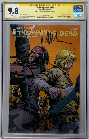 The Walking Dead #154 CGC SS 9.8 Jeffrey Dean Morgan