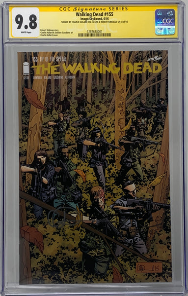 The Walking Dead #155 CGC SS 9.8 Robert Kirkman & Charlie Adlard