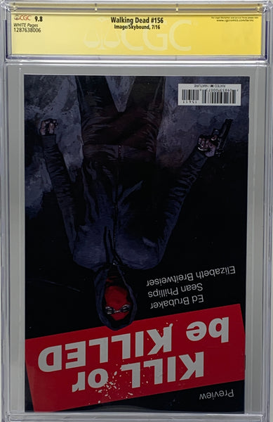 The Walking Dead #156 CGC 9.8 SS 3x with Remark