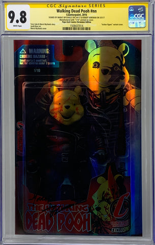 Walking Dead Pooh #nn CGC 9.8 SS Robert Kirkman (Negan Action Figure Chromium 1/10)