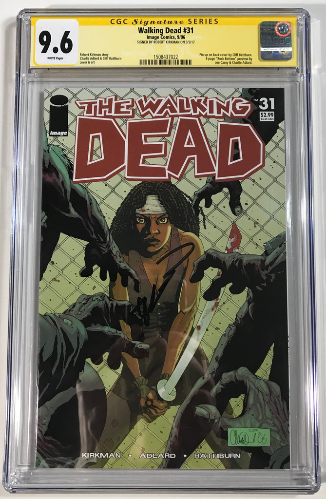 Walking Dead #31 CGC 9.6 SS Robert Kirkman