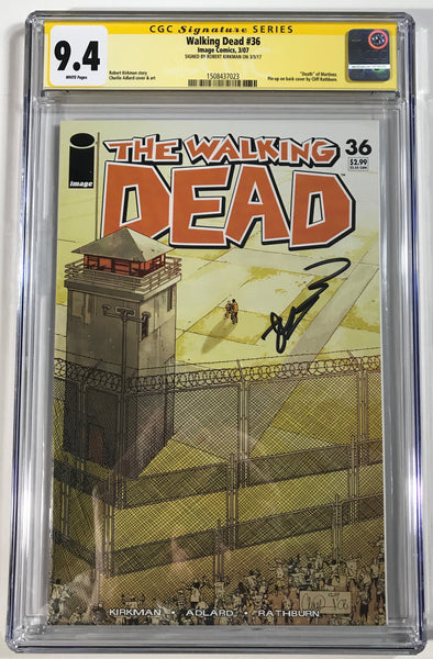 Walking Dead #36 CGC 9.4 SS Robert Kirkman