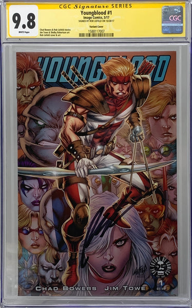 Youngblood #1 25th anniversary 9.8 SS Rob Liefeld