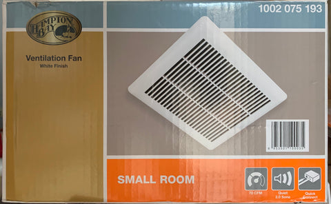 Hampton Bay 70 CFM Small Room Fan Exhaust