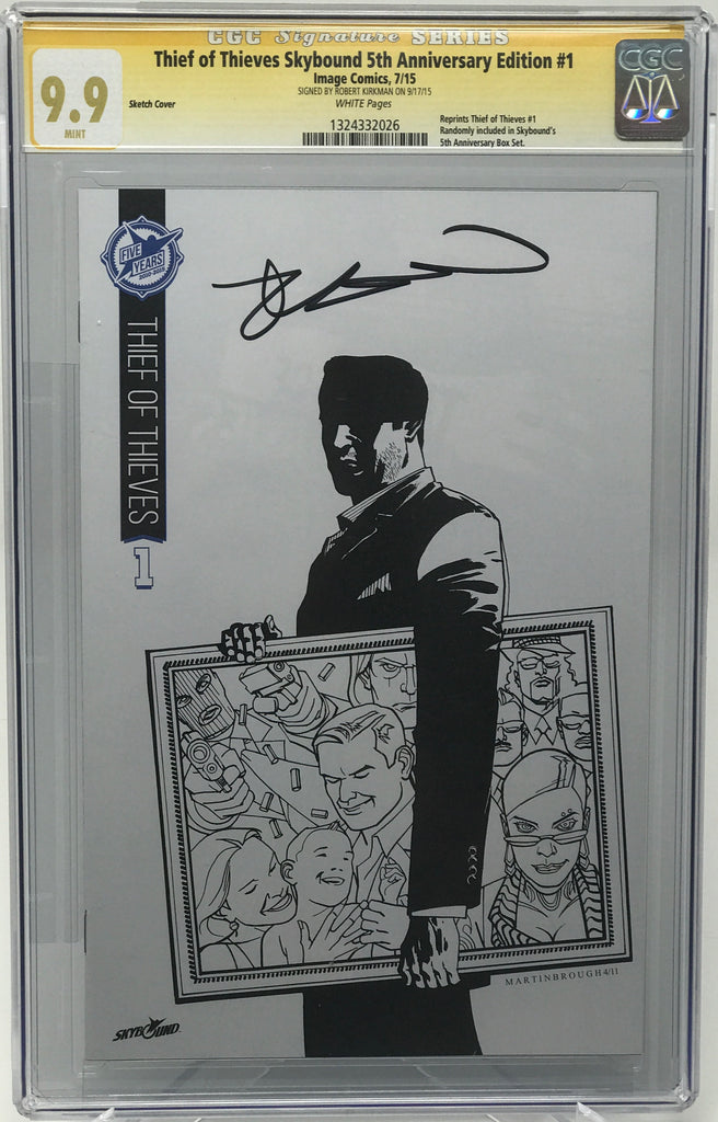 Thief of Thieves Skybound 5th Anniversary Edition #1 CGC 9.9 SS Kirkman