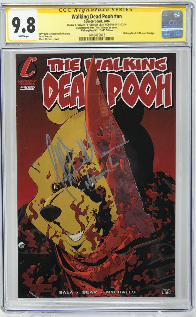 Walking Dead Pooh #nn CGC 9.8 SS Jeffery Dean Morgan (WD111 Homage) Artist Proof (AP 6)