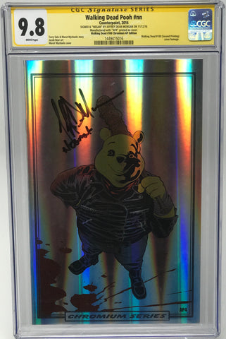 Walking Dead Pooh #nn CGC 9.8 SS Jeffery Dean Morgan (WD100 2nd Print Chrome Homage) Artist Proof (AP4)
