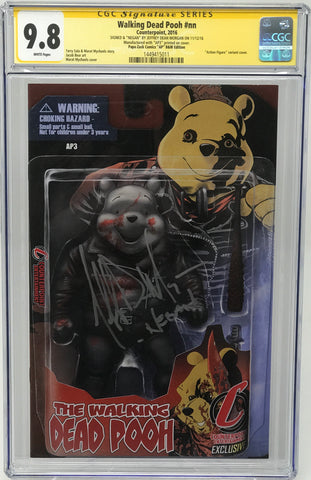 Walking Dead Pooh #nn CGC 9.8 SS Jeffery Dean Morgan (Action Figure variant cover B/W) Artist Proof (AP3)