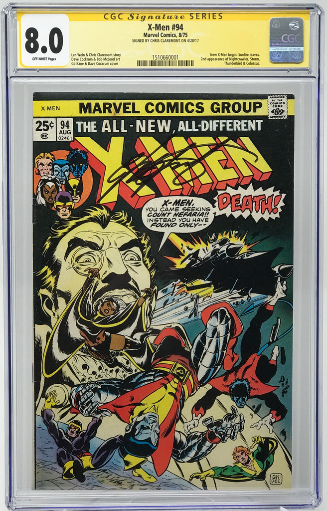 X-Men, The #94 CGC 8.5 SS Chris Claremont