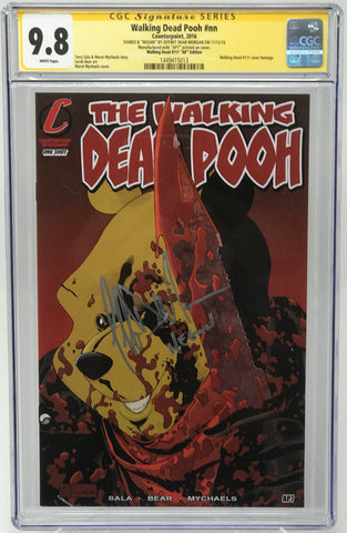 "Walking Dead Pooh #nn CGC 9.8 SS Jeffery Dean Morgan ""WD111 Homage""Artist Proof (AP7)"