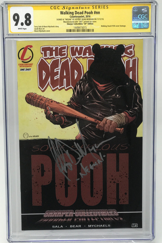 Walking Dead Pooh #nn CGC 9.8 SS Jeffery Dean Morgan (WD100 Homage Cover)